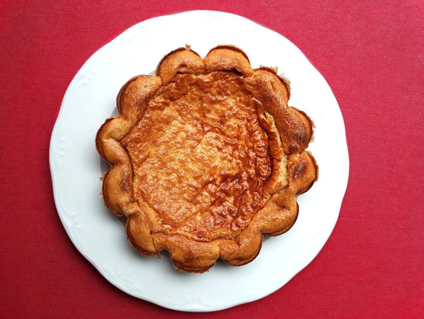 Tarta de queso baja en calorías. Cheesecake.