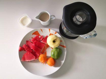 Helado de frutas bajo en calorías